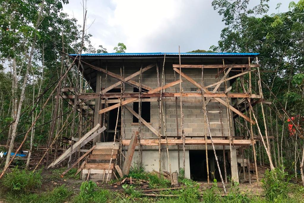 De kliniek in aanbouw | Foto: SOC